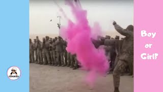 SOLDIER BABY GENDER REVEAL COMPILATION/ CUTE PREGNANCY