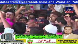 TRS members celebrate outside party office in Hyderabad | Telangana Assembly Elections Results