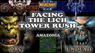 Grubby   Warcraft 3 The Frozen Throne   ORC v UD - Facing the Lich Tower Rush - Amazonia