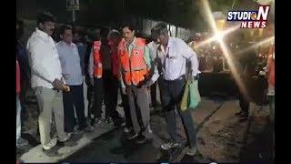 Mayor Bonthu Rammohan Visits Repair Works on Hyderabad Roads