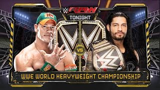 WWE RAW 1/4/16 - John Cena vs Roman Reigns - WWE World Heavyweight Championship Match
