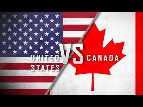 Хоккейная Лента /Канадская Против Американской