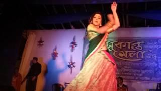 38th Sukanta Mela 2017   1-8February   4th Day   Dans for - Nabanita Das (Diya from Dip jele jay)...