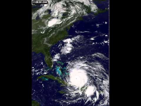 Time Lapse Video Of Hurricane Irene Traveling Up The Coast