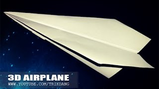How to make the bomb glider paper airplane