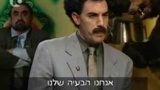 Borat speaking hebrew with israeli journalist