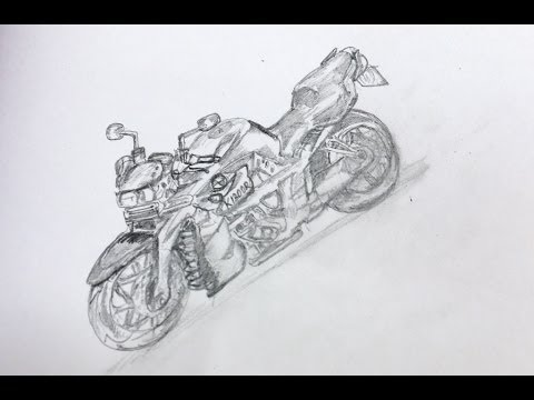How To Draw A Racing Motorbike Bike YouTube