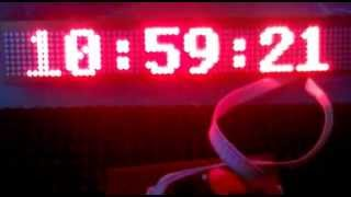 Real-time clock display on LED matrix - optical alarm