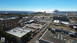 Drone video of downtown Gulfport, MS.