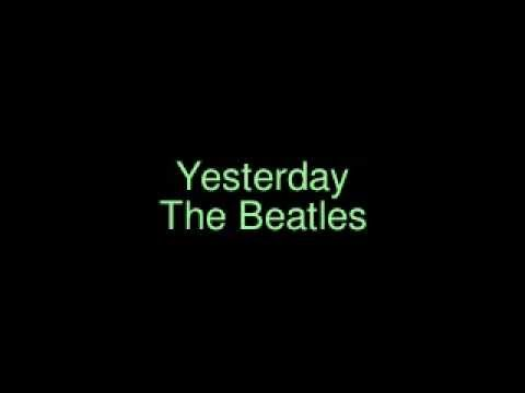 Yesterday The Beatles. KARAOKE.