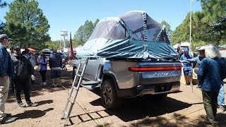 Rivian R1T Electric Camper Truck Walk Around: Overland Expo