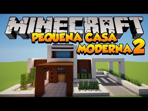 Minecraft construindo uma pequena casa moderna 2 for Casa moderna minecraft tutorial