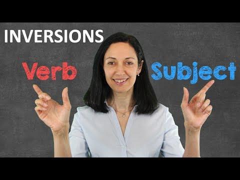 Subject-Verb Inversions - English Grammar Lesson