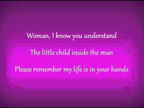 woman - John lennon (lyrics) - YouTube