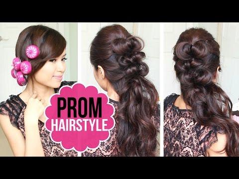Easy Prom Hairstyle | Half Updo Hair Tutorial + GIVEAWAY - Egyszerű frizurák készítése