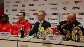 TYSON FURY BIZZARE STATEMENT - 'I THINK KLITSCHKO LET ME WIN ON PURPOSE IN FRONT OF 50,000 FANS'