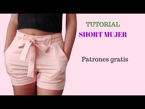 DIY Como hacer un short mujer corte y confección