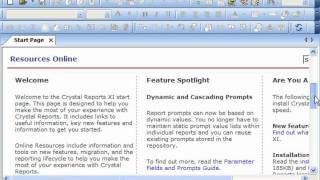 Crystal reports lesson1
