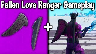 FALLEN LOVE RANGER GAMEPLAY + EVERY BACKBLING SHOWCASE! (Should You Buy This Skin Bundle)