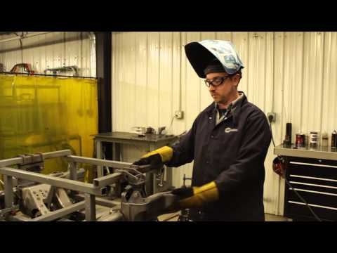 MIG welding a hydro-formed subframe