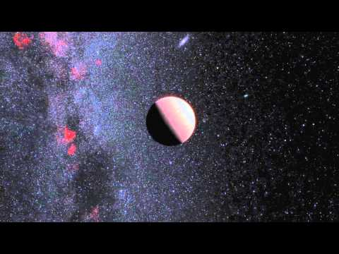 Famous Exoplanet Tau Boötis b in deep space (Artist's impression)