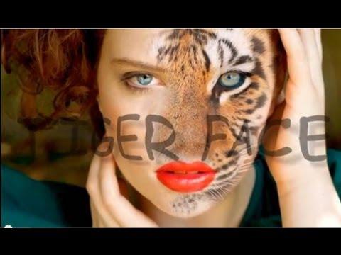 Photoshop - Convertir persona en tigre/ Tiger face