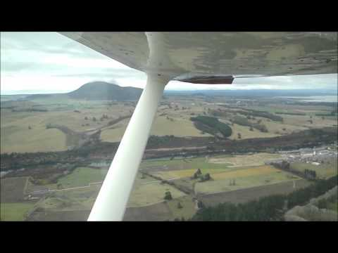 Scenic Flight Over Taupo, New Zealand on Air Charter Taupo Cessna Skyhawk