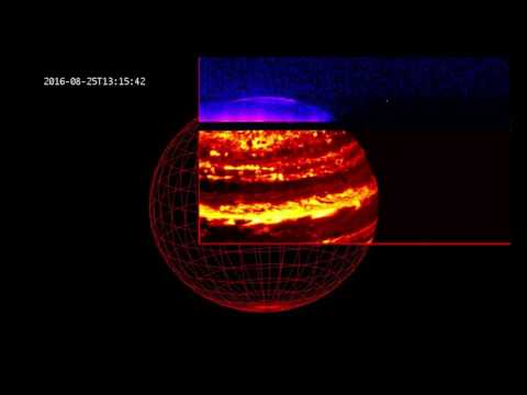 Jupiter's Glow in Infrared Light