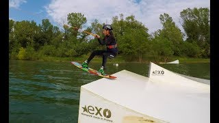 Carla OverWater doing wakeboarding and water ski Summer fun