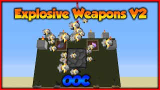Minecraft: Explosive Weapons V2 | Only One Command