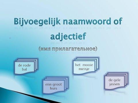 Урок 7. Имя прилагательное. Adjectif.