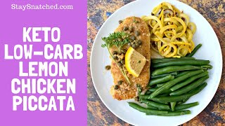 Keto Low Carb Lemon Chicken Piccata Recipe