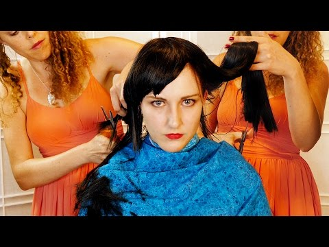 Warning! Disturbing ASMR Haircut ✂ Hair Brushing & Scalp Massage Sounds Binaural
