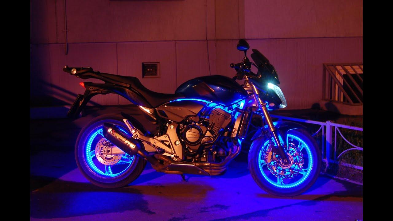 Как сделать красиво подсветку на мотоцикл