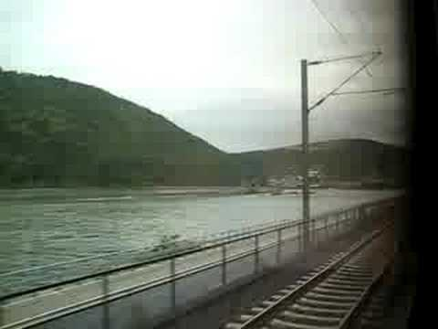 Train Ride through Rhine Valley past Loreley (Sankt Goar - Oberwesel) Mittelrhein