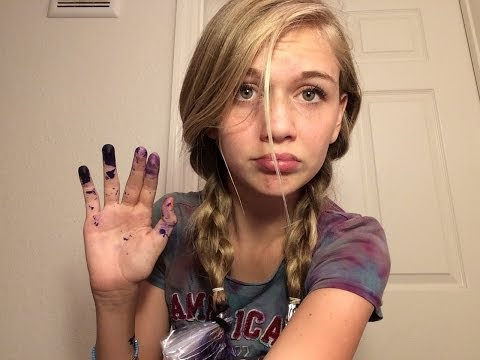 How to dip dye your hair with splat purple hair dye