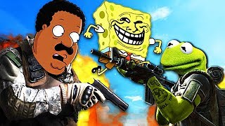 FAMOUS PEOPLE PLAY CALL OF DUTY! #3 (Kermit the Frog, Cleveland Brown, Spongebob)