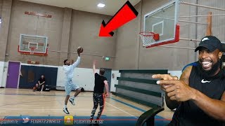 FLIGHT AIR BALLED AN OPEN FLOATER VS SHOE PLUG!! 1v1 BASKETBALL
