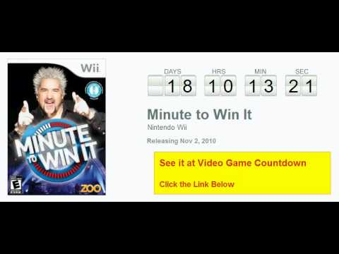 Minute To Win It Wii Countdown video