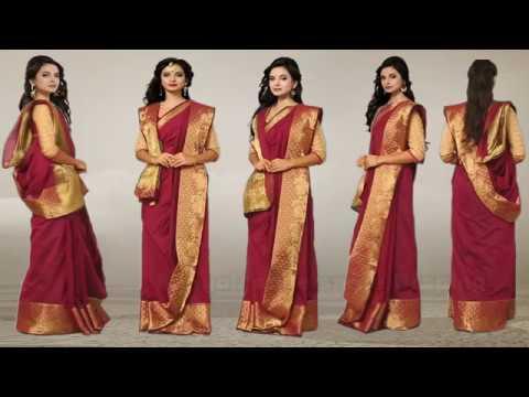 how to tie a saree