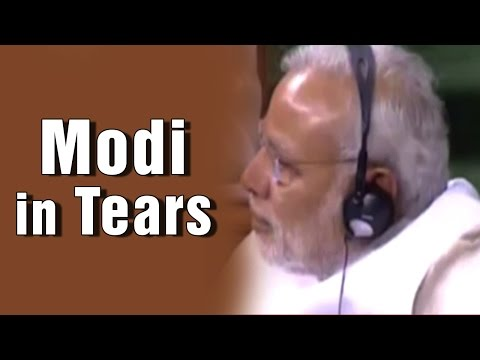 PM Modi weeps over BJP MP Hukumdev Narayan Yadav's emotional speech in Lok Sabha