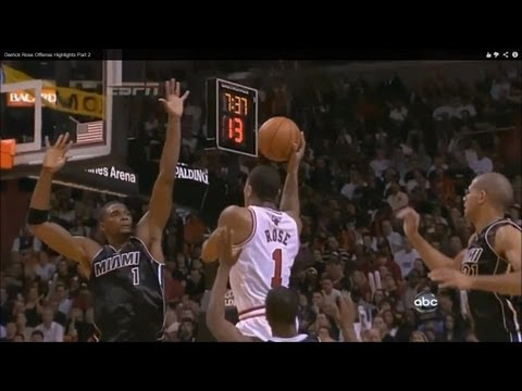 Derrick Rose's jumpshots, floaters, runners, dunks, crossovers, spin moves, acrobatic finishes at the rim... derrick rose highlights bulls derrick rose retur...