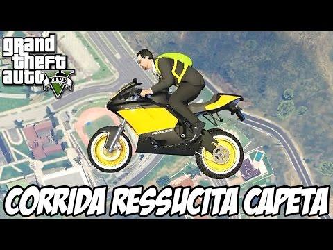 GTA V - Corrida RESSUSCITA CAPETA HOMENAGEM AO DAVY JONES FODA!!