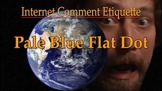Internet Comment Etiquette: Pale Blue Flat Dot
