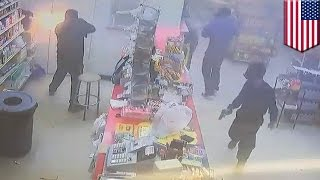 Armed robbery fail: Three masked men brazenly try to rob supermarket in broad daylight - TomoNews