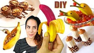 DIY: 5 COMIDINHAS FOFAS com BANANA 🍌 | Paula Stephânia