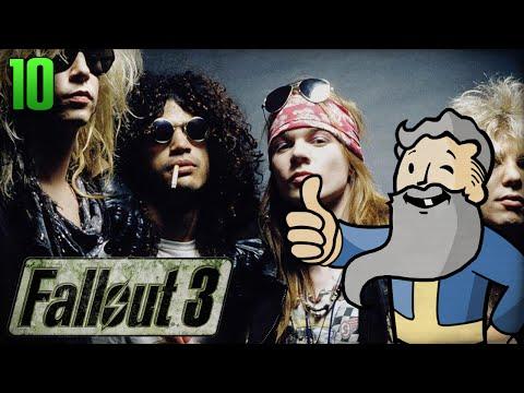 "Fallout 3 Gameplay Walkthrough Part 10 - ""Guns n Roses Radio!!!"" 1080p HD"