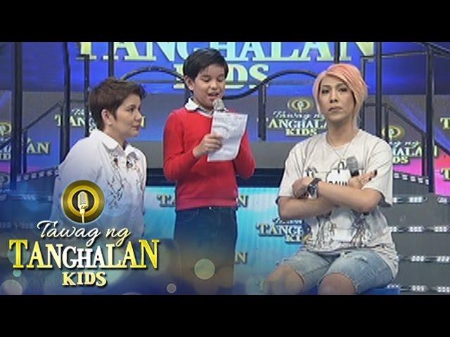 Tawag ng Tanghalan Kids: John Miguel makes a poem for Vice
