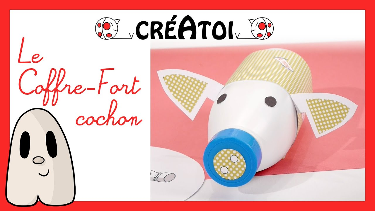 Le coffre fort cochon activit manuelle enfant - Activite manuelle recyclage ...