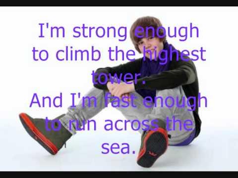 Justin Bieber ft Jaden Smith Never say never Lyrics thumbnail